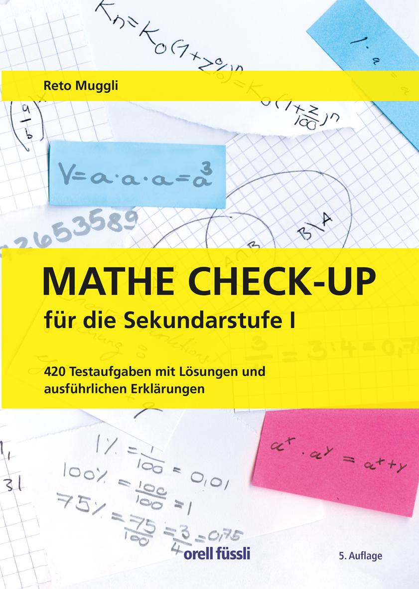Mathe Check-up für die Sekundarstufe I   Orell Füssli Verlag