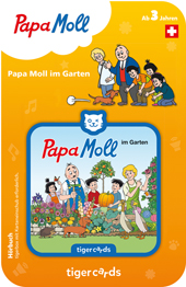 Tigercard Papa Moll im Garten