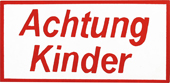 Globi Strassenwarntafel Achtung Kinder eckig