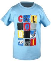 Globi T-Shirt hellblau modern 122/128