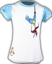 Globine T-Shirt gepunktet blau Globine am Seil 134/140