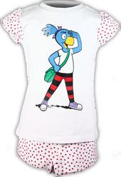 Globine Shorty Pyjama gepunktet rot 110/116, Umschlag gross anzeigen
