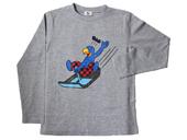 Globi Langarm-Shirt Rodler grau 122/128