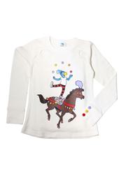 Globine Langarm-Shirt beige Zirkuspferd 122/128