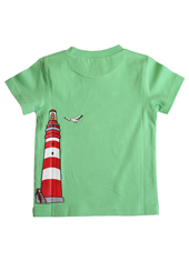 Glöbeli T-Shirt grün Ball/Leuchtturm 98/104