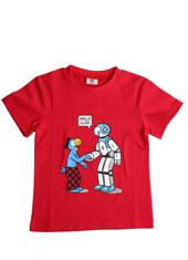 Globi T-Shirt rot Roboter 122/128