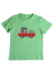 Globi T-Shirt grün VW-Bus 122/128