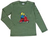 Globi T-Shirt langarm oliv Vespa 110/116