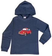 Globi Kapuzen-Shirt langarm blau VW 110/116