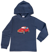 Globi Kapuzen-Shirt langarm blau VW 134/140, Umschlag gross anzeigen