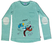 Globine T-Shirt langarm türkis tanzend 98/104, Umschlag gross anzeigen
