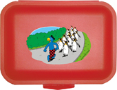Globi Lunchbox Pinguinparade rot