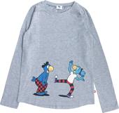 Globine T-Shirt langarm hellgrau Globi u. Globine 122/128