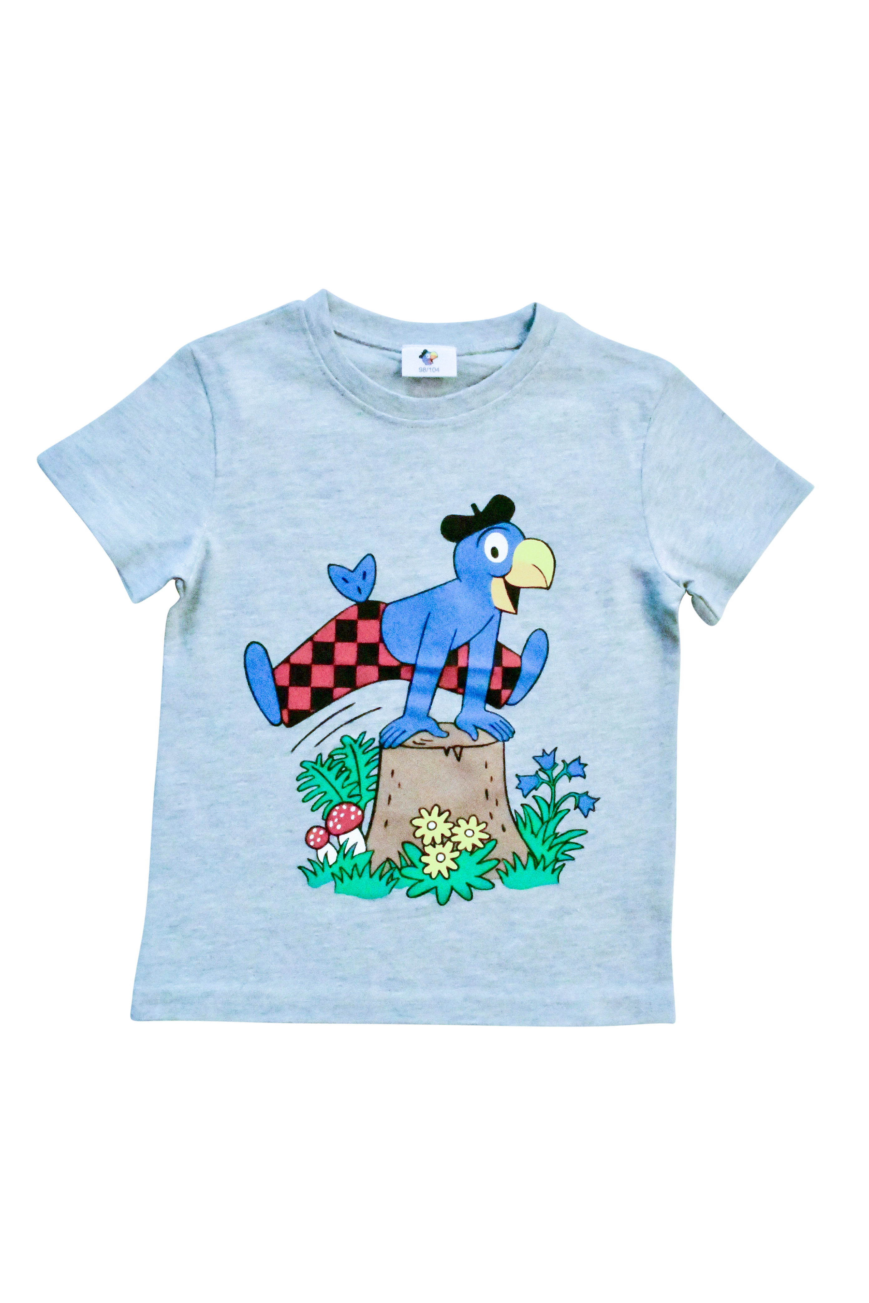 Globi T-Shirt grau Sprung 110/116