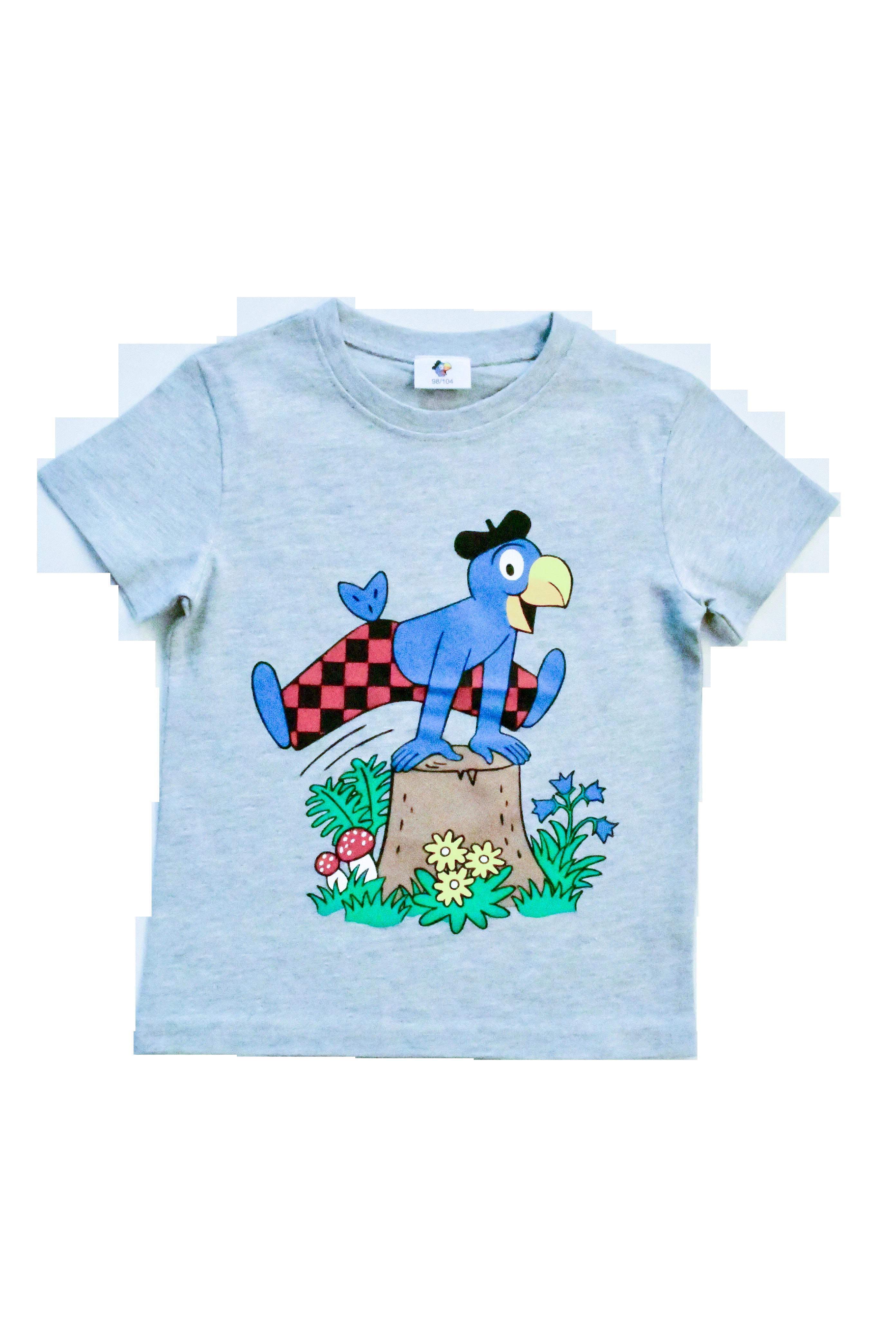 Globi T-Shirt grau Sprung 122/128