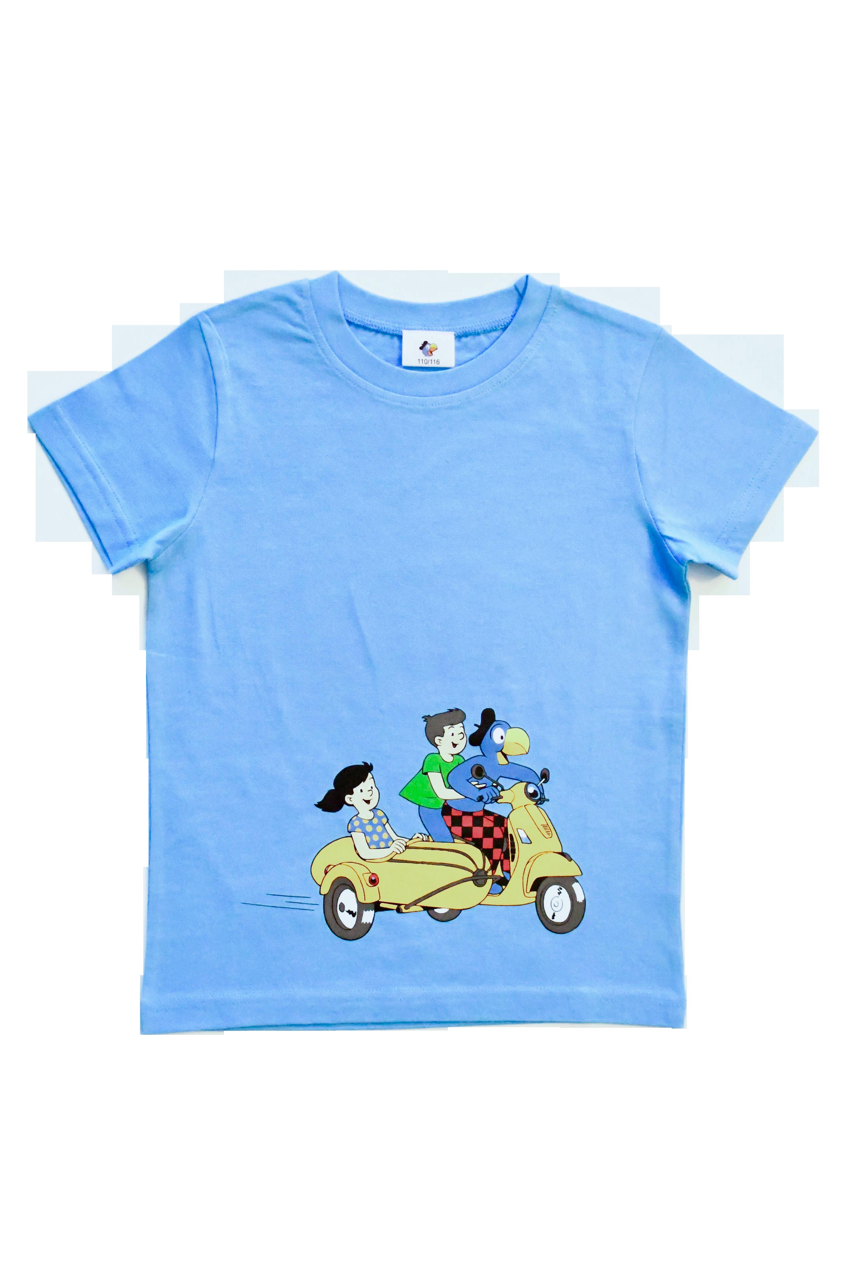 Globi T-Shirt blau Vespa 110/116