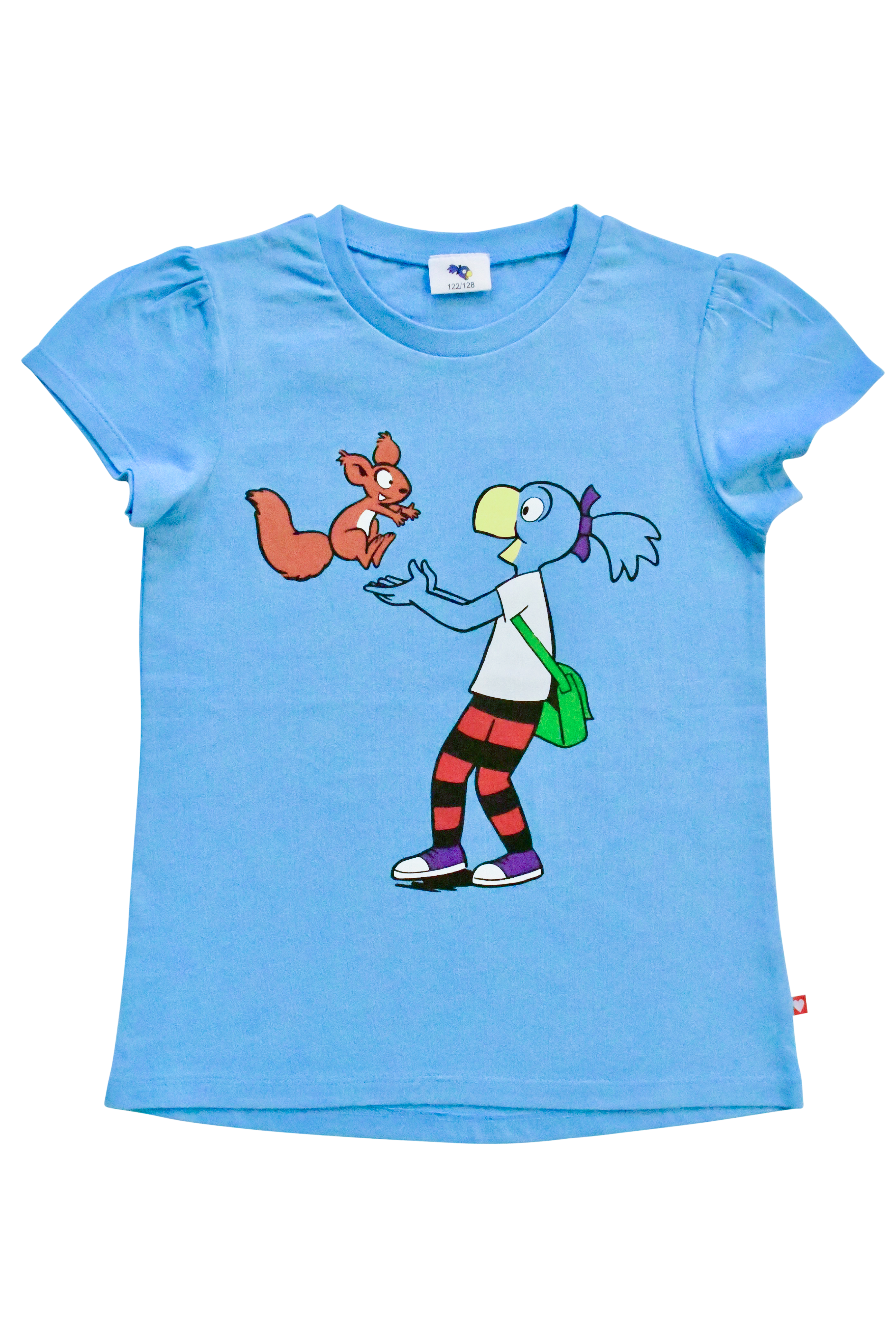Globine T-Shirt blau stehend 122/128