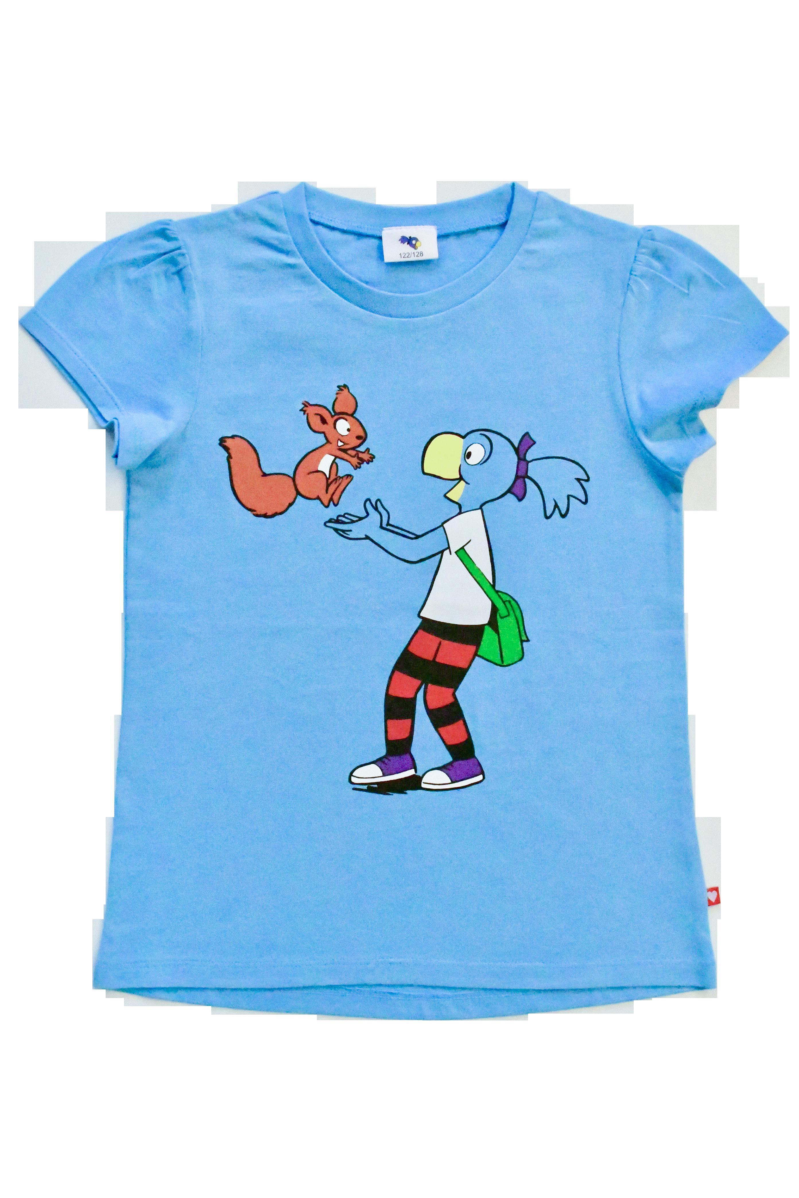 Globine T-Shirt blau stehend 134/140