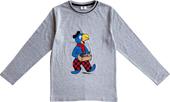 Globi T-Shirt langarm hellgrau mit Igel 122/128