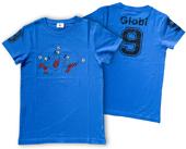 Globi T-Shirt blau Fussball 122/128