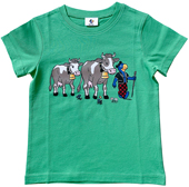 Globi T-Shirt Kühe grün 110/116