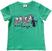 Globi T-Shirt Kühe grün 122/128