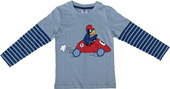 Globi Langarmshirt Auto blau 98/104