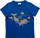 Globi T-Shirt Delfin, blau 110/116