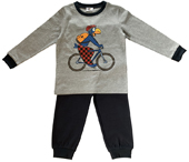 Globi Pyjama hell-/dunkelgrau, 98/104 Velo