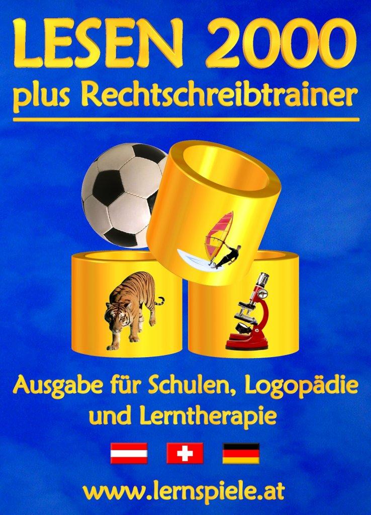 Lesen 2000 plus Rechtschreibtrainer Mehrplatzlizenz bis 24 PC