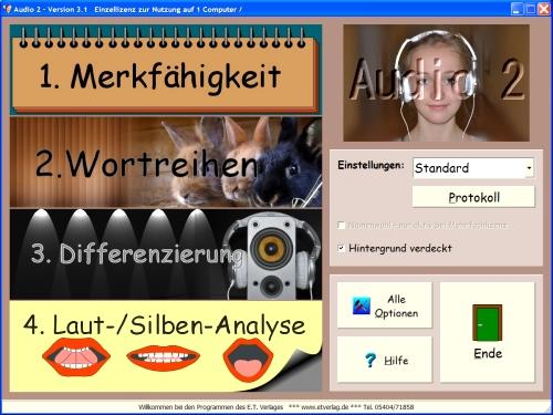 Audio 2 - Sprachwahrnehmung Einzellizenz, Umschlag gross anzeigen