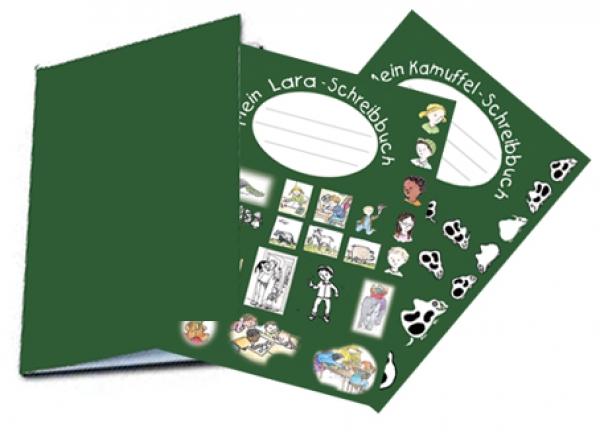 Lara-Schreibbuch unliniert mit Stickersatz