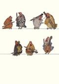 Hühnermusik Postkarte VE 1=10