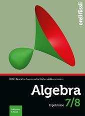 Algebra 7/8 Ergebnisse, Umschlag gross anzeigen