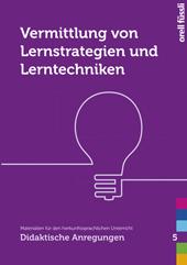 Vermittlung von Lernstrategien und Lerntechniken, Umschlag gross anzeigen