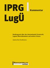 IPRG/LugÜ Kommentar, Umschlag gross anzeigen