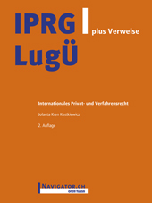 IPRG/LugÜ plus Verweise, Umschlag gross anzeigen
