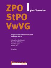 ZPO/StPO/VwVG plus Verweise, Umschlag gross anzeigen
