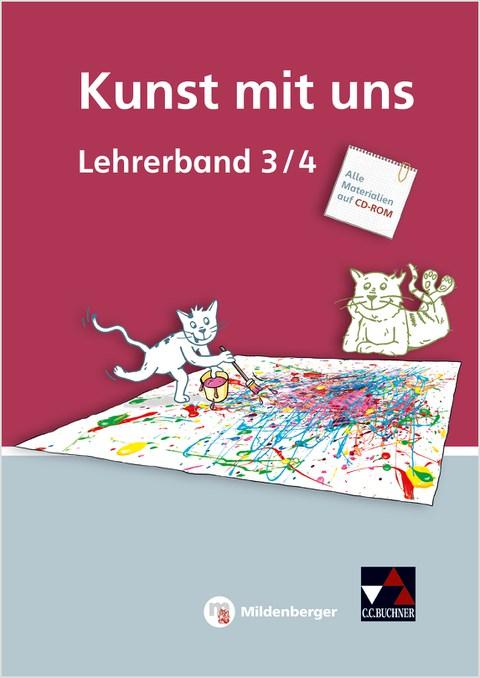Kunst mit uns – Lehrerband 3/4 mit CD-ROM, Umschlag gross anzeigen