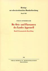 Dissertation Orts- und Flurnamen Appenzell
