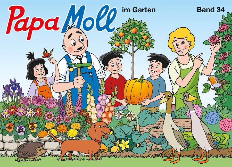 Papa Moll im Garten Cover